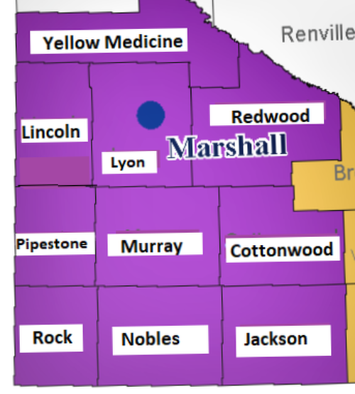 Minnesota Map of Counties SWCIL Serves